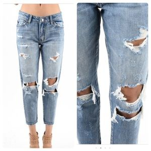 🆕 Boyfriend Destructed Denim